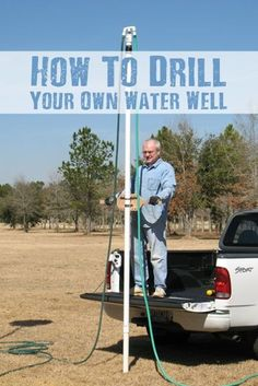 You can drill your own shallow water well using PVC and household water hoses. It's a cheap and effective way to dig your own water well! Survival Food, Homestead Survival, Survival Prepping, Survival Skills, Emergency Preparedness, Survival Hacks, Survival Life, Emergency Planning, Survival Shelter
