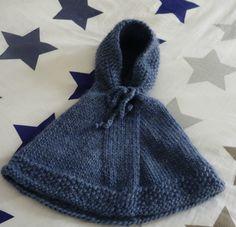 Tuto tricot poncho bébé - aiguilles 8