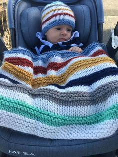 The Biddeford Baby Blanket is fun to knit and the world's greatest stash busting pattern! Use leftover yarn in 4 colors plus white for the background to knit this cozy and cute blanket. I had lots of Cute Blankets, Soft Baby Blankets, Knitted Baby Blankets, Baby Blanket Crochet, Crochet Baby, Crochet Owls, Crochet Animals, Free Baby Blanket Patterns, Easy Knitting Patterns