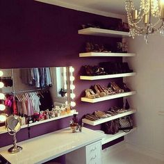 I JUST want the shoe and purse shelves