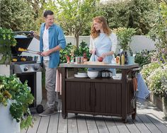 Host large outdoor parties or intimate get-togethers with the Keter Unity XL BBQ Entertainment Storage Table and Prep Station . Outdoor Tables, Indoor Outdoor, Outdoor Living, Outdoor Decor, Outdoor Stuff, Outdoor Projects, Outdoor Furniture, Outdoor Entertaining, Outdoor Cooking