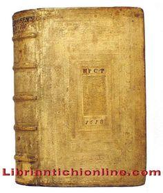 Legatura tedesca datata 1618, in pelle di scrofa su assi di legno e decorazioni impresse a secco ai piatti  www.libriantichionline.com