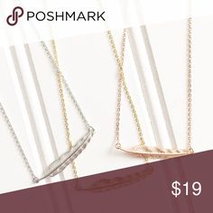 Feather Necklace Feather Necklace is gorgeous layered with other delicate necklaces or worn alone! 3 colors available; boutique pricing is firm. Jewelry Necklaces
