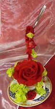 composition florale cappuccino de rose éternelle stabilisée tasse