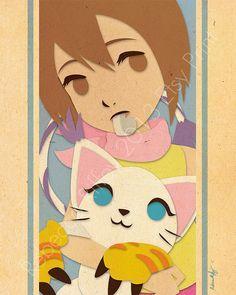 Kari and Gatomon Digimon
