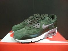 Nike Air Max 90 Trainers Carbon Green Metallic Pewter | air max 90