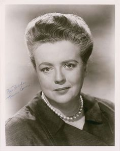 Frances Elizabeth Bavier was an American stage and television actress. Originally from the New York theatre, Bavier worked in film and television from the 1950s.(Andy Griffith Show, Mayberry RFD, Day  the Earth Stood Still, Eve Arden Show) 1902-89