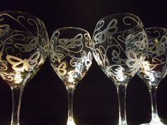 Hey, I found this really awesome Etsy listing at https://www.etsy.com/listing/125430037/etched-wine-glasses-with-butterfly-and