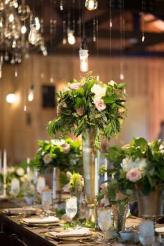 Organic Oklahoma Wedding | Decor/Rentals: Ruby's Vintage Rentals & Marianne's Rentals Special Events Solutions | Wedding Planner: Emerson Events | Photography: Ely Fair Photography | Venue: The Springs in Edmond #bridesofok #wedding #centerpiece