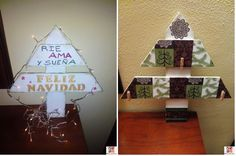 Haz tu propio árbol de Navidad ¡con madera!