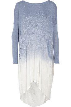 Raquel Allegra Shredded spray-dye cotton-blend jersey dress | NET-A-PORTER