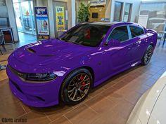 Purple dodge charger hellcat 2015