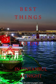 Best Things To Do In Istanbul At Night - Bruder Voyager Stuff To Do, Things To Do, Good Things, Travel Around The World, Around The Worlds, Fun Activities To Do, Cool Bars, Amazing Architecture, Historical Sites