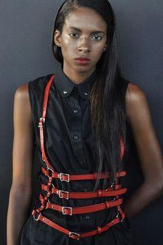 Leather harness thing by Zana Bayne