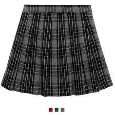 NWT Check Skirted black booty shorts dropwaist Dance Costume 2 colors schoolgirl