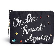 Venessa Arizaga 'On The Road Again' ceramic charm silk clutch (€380) ❤ liked on Polyvore featuring bags, handbags, clutches, accessories, torbe, black, black handbags, black purse, venessa arizaga and black clutches