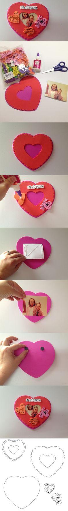 Mini Porta Retrato de EVA Para o Dia das Mães