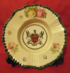 Antique Crested China Ash Tray, Cupar Fife