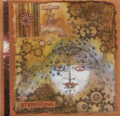 stampinback stamps, steampunk card made by Alie Hoogenboezem-de Vries