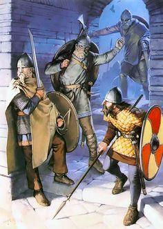 """Viking warriors, 9th-10th centuries"", Angus McBride"