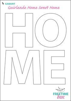 """Tuto DIY - Pas à pas - Gabarit guirlande """"Home sweet home"""" en toile de jute"""