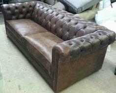 Custom Chesterfield Sofa - Home Furniture Design Custom Sofa, Custom Furniture, Home Furniture, Furniture Design, Clad Home, Leather Chesterfield, Tufted Sofa, Sofa Home, Custom Leather