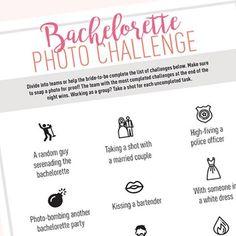 Free Download | Free Printable | Bachelorette Photo Challenge Game