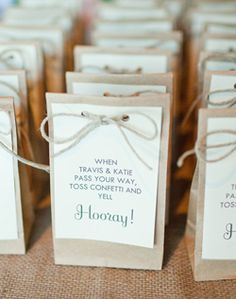 WeddingChannel Galleries: Confetti Bags