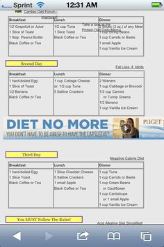 Military diet! 3 days lose up to 10lbs!!!!