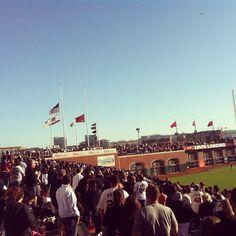 Flags at half mast #attpark #sanfrancisco
