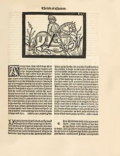 Geoffrey Chaucer, Canterbury Tales (1526). One of the rarest editions of Canterbury Tales, the fifth overall and fourth to be illustrated. Est. $200/300,000. Photo: Sotheby's.