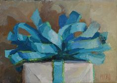 how can a painting of a present excite me more than the thought of a real present?
