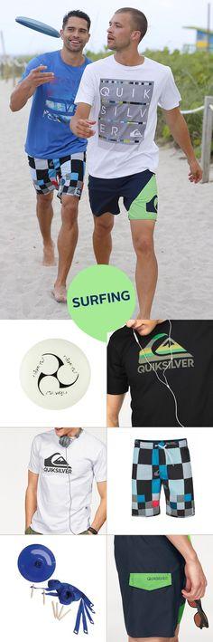 Eine Frisbee gehört zum Strandurlaub genau so wie ein Cocktail in deiner Hand. Dein lässiges Beachoutfit kommt von Quicksilver und kombiniert coole Boardshorts mit Shirts in verschiedensten Designs.