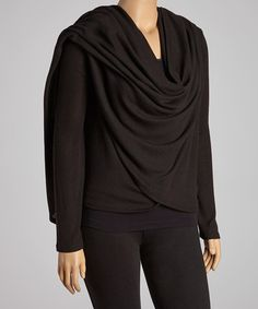 Take a look at this Black Open Cardigan - Plus by CANARI on #zulily today!$29.99