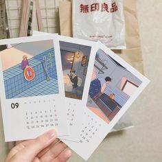 e p o y Bullet Journal Art, Bullet Journal Ideas Pages, Bullet Journal Inspiration, Journal Aesthetic, Aesthetic Art, Korean Aesthetic, Kalender Design, Printable Calendar Template, Cute Art