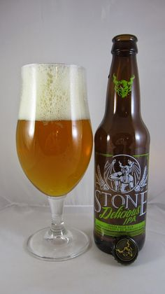 Stone Delicious IPA • Crystal-clear beautiful golden/copper color. Pours to a large, white, frothy head which laces and retains quite well. Hop-forward nose of spicy/earthy notes as well as citrus pith. I hate to be blunt, but this is an IPA from Stone friggin' Brewing Company – how do you THINK it's going to taste, honestly? Hop-dominated? Check. Citrusy? Check. Spicy? Check. Malt presence, but not to the point of being a truly balanced IPA? Check. This beer was brewed with Calypso...
