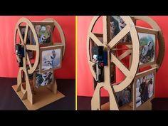 How to Make Ferri Wheel Photo Frame - Ferris Wheel Photo Album, Paper Crafts Origami, Cardboard Crafts, Diy Crafts For Gifts, Craft Stick Crafts, Frame Crafts, Diy Frame, Diy Photo, Photo Craft, Diy Birthday Gifts For Dad