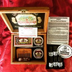 Another custom Beard Care Kit box going out to a customer in Canada. Get your cigar box gift set at www.pugilistbrand.com