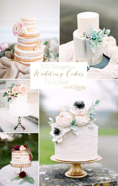 Get ready to fall in love with every single one of these pretty wedding cakes: http://www.stylemepretty.com/collection/2685/