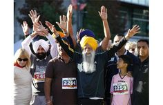 Wow, what a total inspiration. He didn't even break a sweat running 5K! >>Photos: 100-year-old marathoner Fauja Singh in action