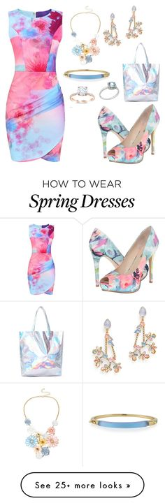 """Spring Is In The Air"" by donnalynnginn on Polyvore featuring GUESS, Mixit, Erickson Beamon, Alexis Bittar, Anika and August, women's clothing, women, female, woman and misses"