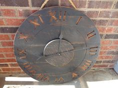 29 Salvaged Wood Wall Clock in Distressed Black by AmysCrossing, $149.00