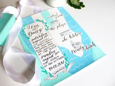 Custom Illustrated Wedding Map | Hand Painted Info Card for Wedding Or Event with Hand Lettered Calligraphy by Someday Print Co | Montreal Calligraphy, Illustration & Design.