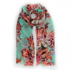 Macmillans Turquoise Floral Scarf £12.99 at Macmillans of Penwortham