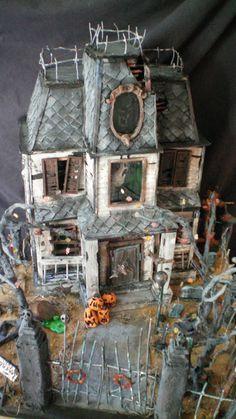 miniature halloween village haunted theater | halloween village
