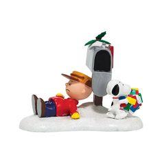 Peanuts Village Christmas Blues Charlie Brown Snoopy Figurine 4038641 Dept 56