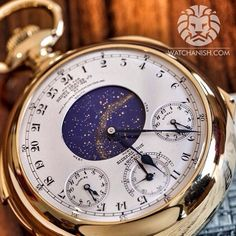Most complicated and most expensive watch to ever be sold on an auction Patek Philippe Henry Graves Jr. supercomplication that was auctioned off by Sotheby's in 1999 for $11 million is being auctioned again in November 2014 and is estimated to be sold at around 17 million!!!