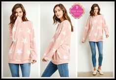 Hyatt Star Sweatshirt in Pink