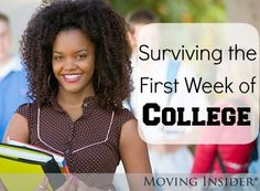 Adjusting to college life isn't always easy. We came up with a couple tips to help students survive their first week of college! For more #backtoschool tips, head to movinginsider.com college student tips #college #student