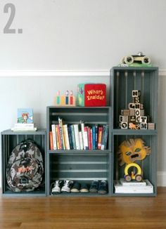 Milk Crate Shelves